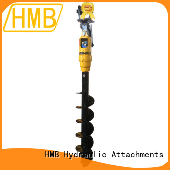 HMB Easy maintenance hydraulic auger for excavator Suppliers for Highway