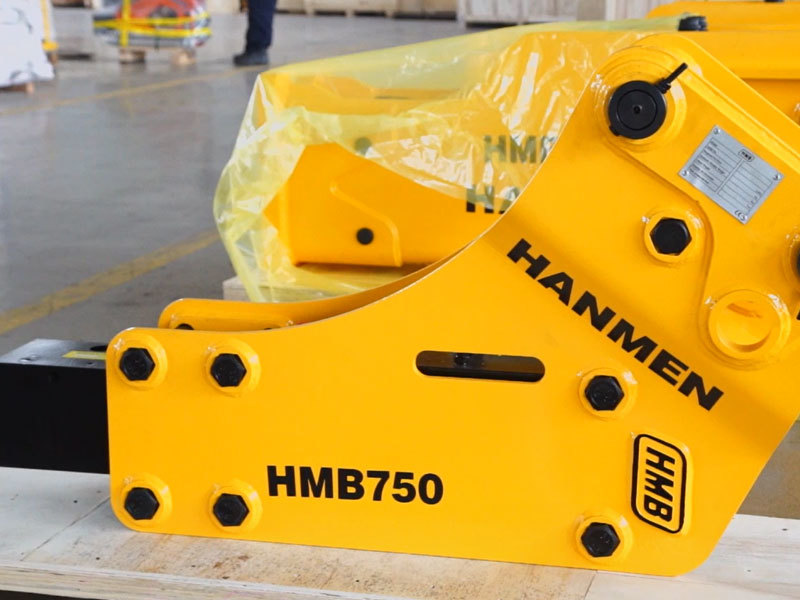 Backhoe type HMB750 hydraulic breaker for 6 – 9 ton backhoe loader