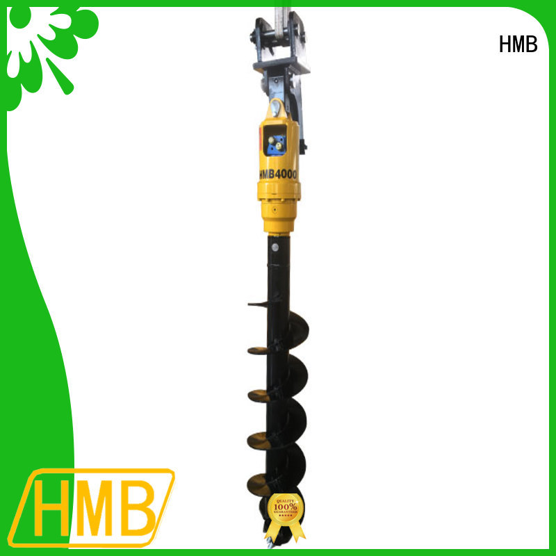 HMB Easy maintenance hydraulic auger in China for foundation excavation