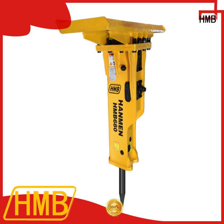 HMB Easy maintenance hydraulic concrete breaker for excavator Supply for broken concrete pavement