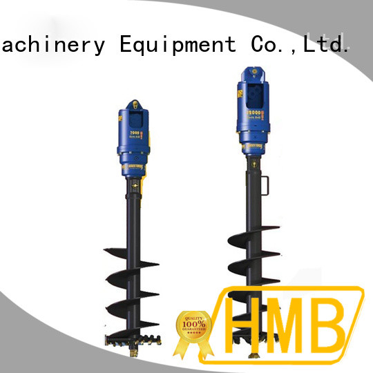 HMB Low noise level excavator auger attachment for sale Supply for secondary crushing.