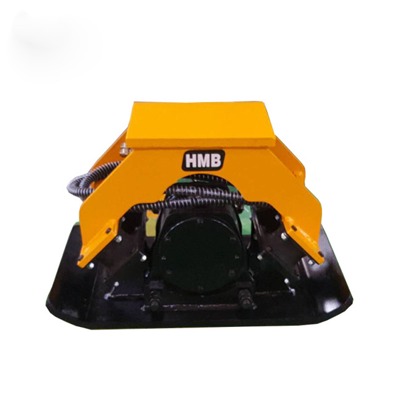 Excavator mounted hydraulic plate compactor