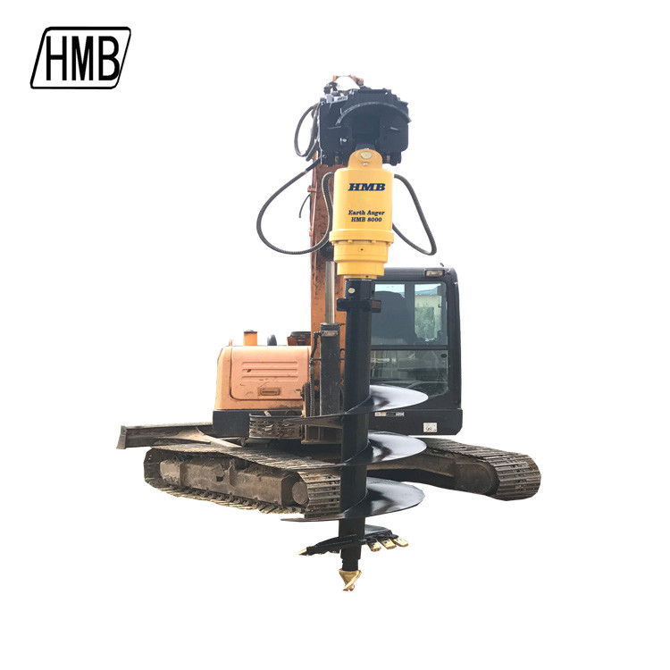 Mini Excavator Digging Machinery Hydraulic Drilling attachment Earth Auger Price