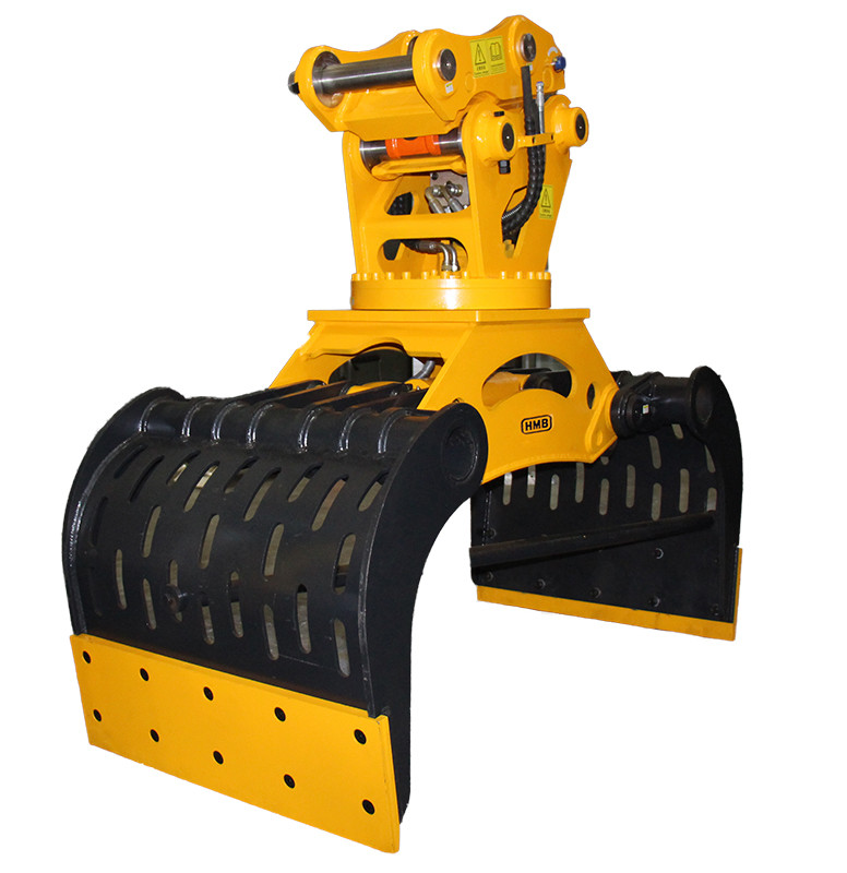 360 degree rotation hydraulic Demolition grapple with NM400 wearable steel