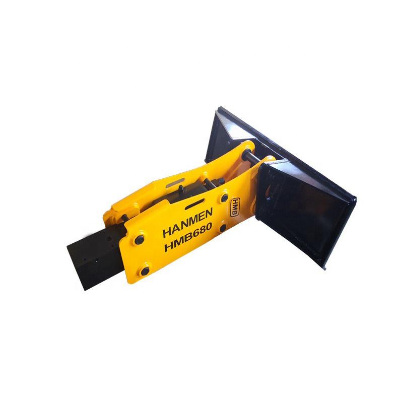 Hydraulic rock breaker and hydraulic hammer for skid-steer loader