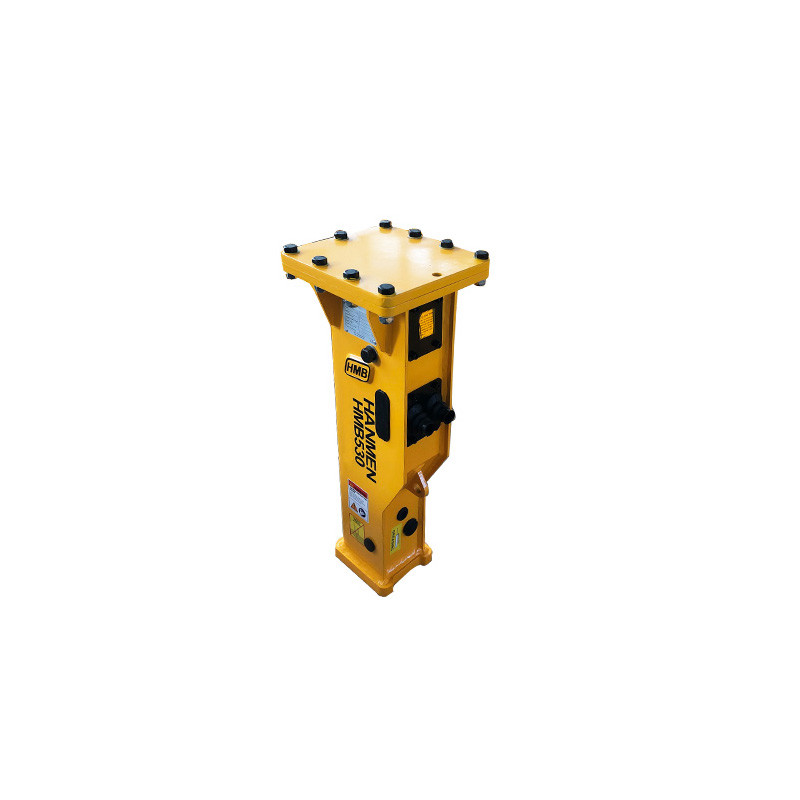 Box type or silenced type hydraulic jack hammer without top plate