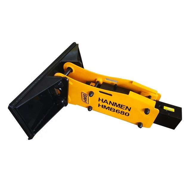Hydraulic rock breaker hammer for skid steer loader