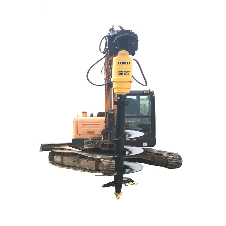 Hydraulic earth auger, excavator spare parts auger drill, auger drilling machine for planting trees
