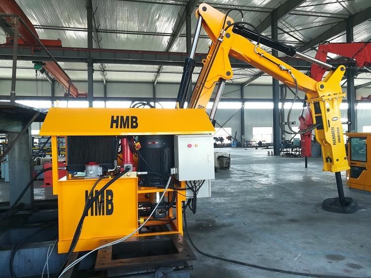 Heavy type pedestal hydraulic rock breaker boom systems