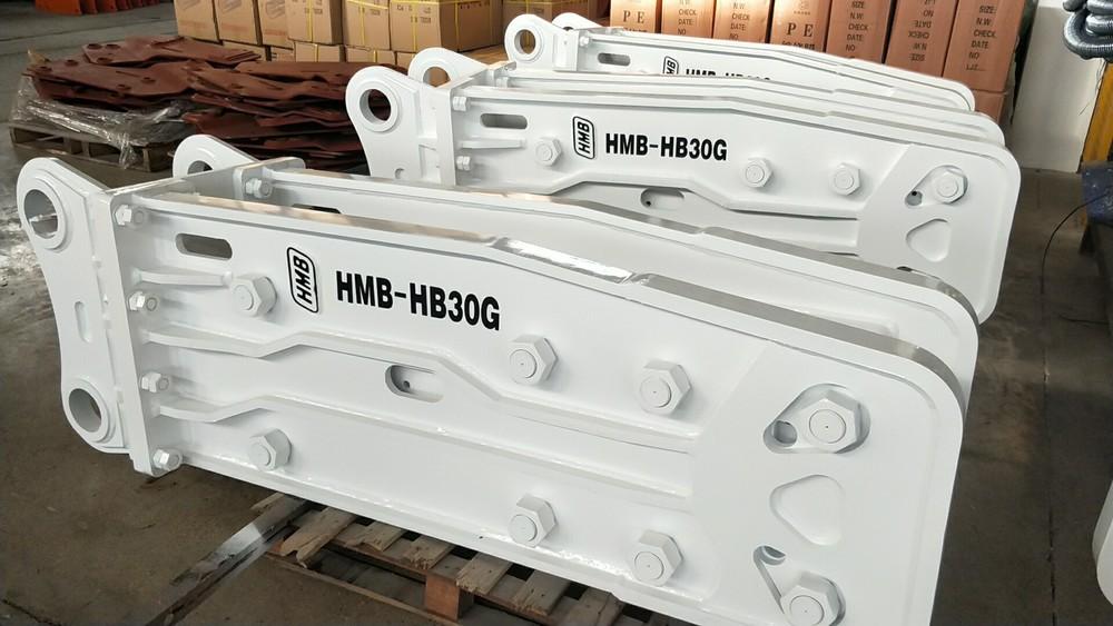 Korean technology HB30G open top type hydraulic rock breaker hammer for excavator manufacture