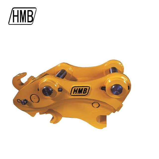 new mechanical quick coupler used to exchange excavator buckets and other attachments