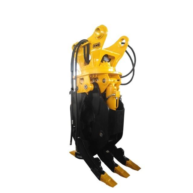 rotating hydraulic grapple 360 degree motor hydraulic grapple stone grab wood log grapple