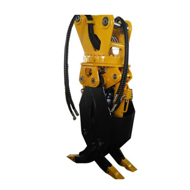 Excavator grapple bucket hydraulic wood grapple 360 log grab stone excavator rotating grapple saw