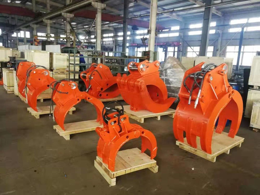 Eccentric Pin Hydraulic Grapple rotating log grapple stone grab For Excavator with good quality