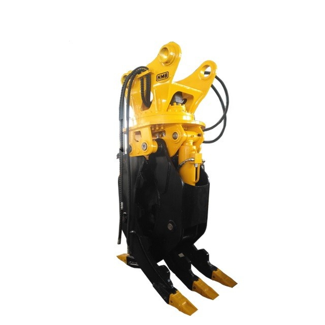 factory price excavator 360 degree hydraulic rotating log grapple wood grabber log grapple