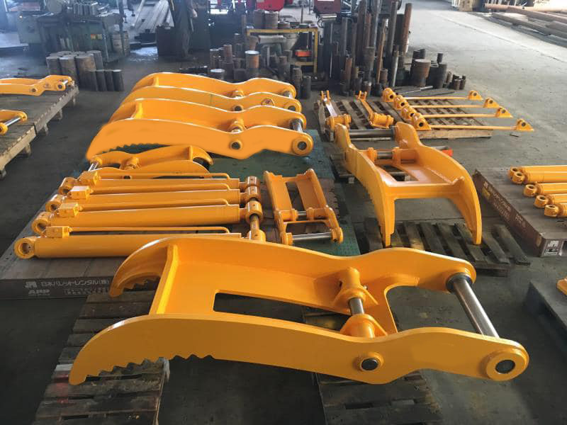 excavator hydraulic thumb bucket grapple
