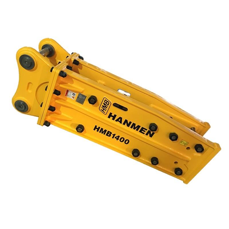 HMB1400 top type 20ton hydraulic rock breaker concrete hammer soosan sb81 for sale