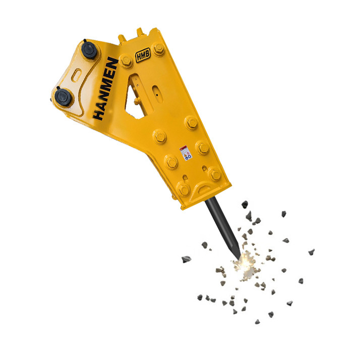 HMB750 side type hydraulic concrete breaker rock hammer for mini excavator