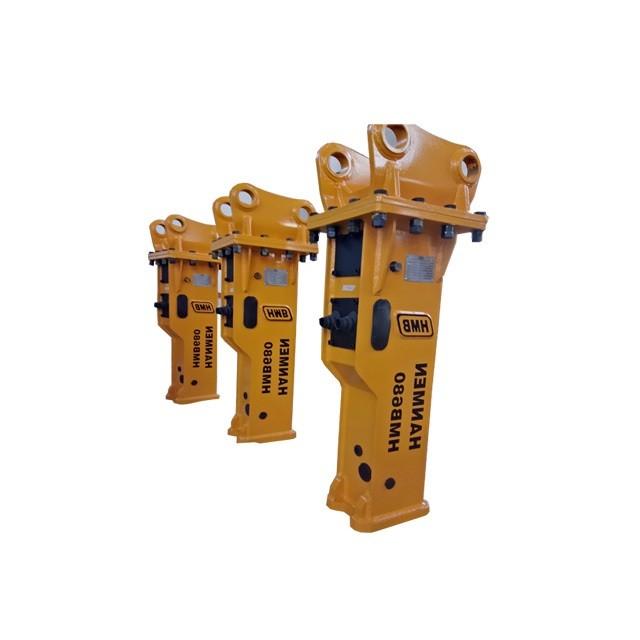hydraulic excavator breaker parts Concrete Rock breaker hydraulic hammer for 3-7t excavator