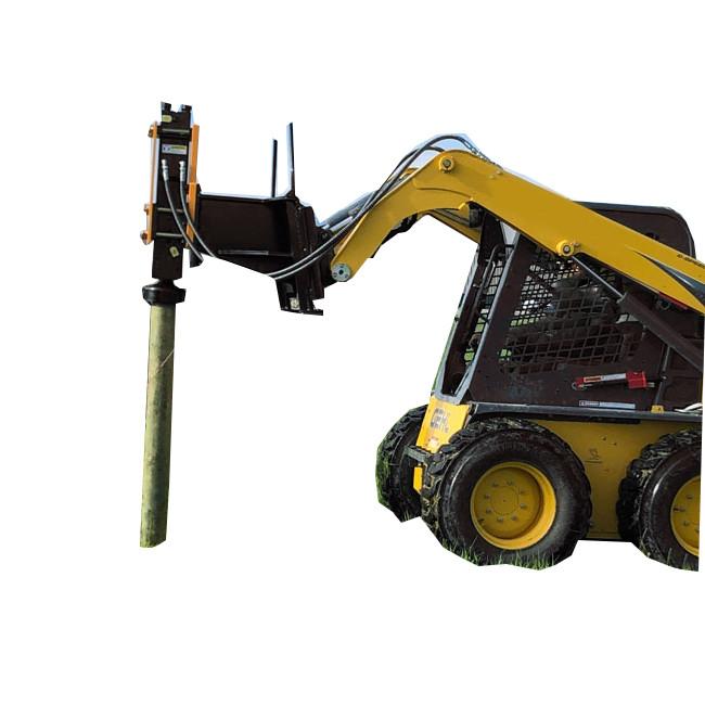 excavator attachemnt hydraulic post driver for skid steer loader excavator