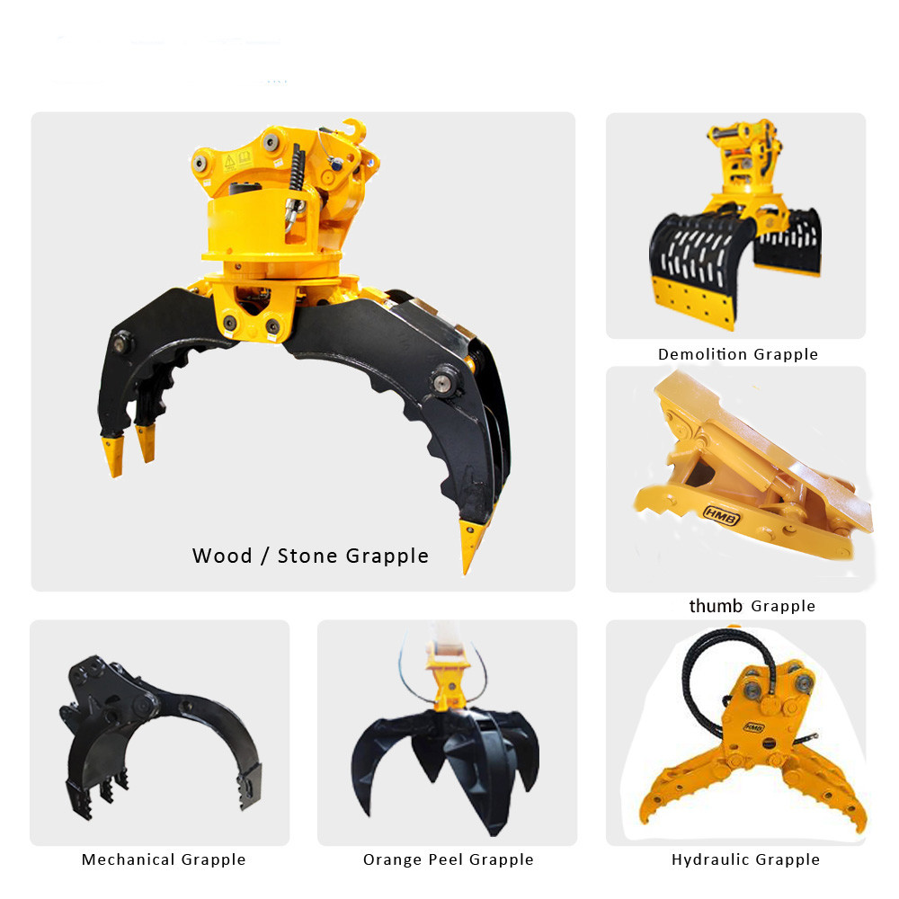 hydraulic Excavator Grapple Rotary Wood Grapple Log Grab For All Brands excavator