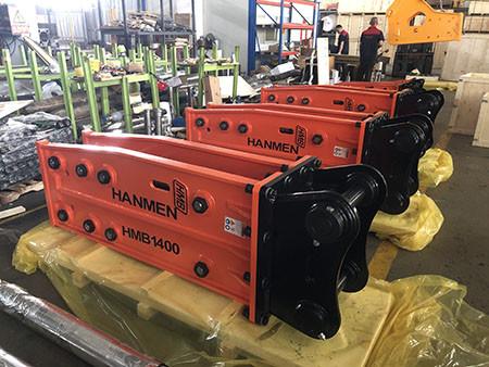 HMB side type hydraulic breaker working video