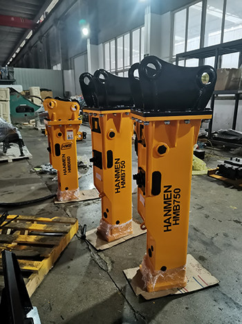 HMB750 hydraulic breaker hammer with chisels 75mm, excavator breaker excavator hammer