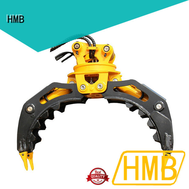 HMB hydraulic rotating grapple supplier for handling wood