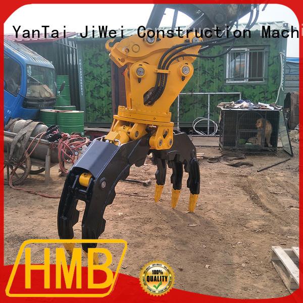 Custom hydraulic grapple for excavator Oem for handling wood