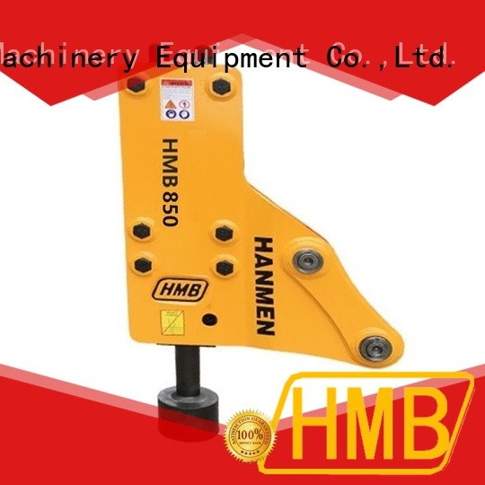 HMB long service life excavator mounted hydraulic pile driver supplier for river bank reinforcement