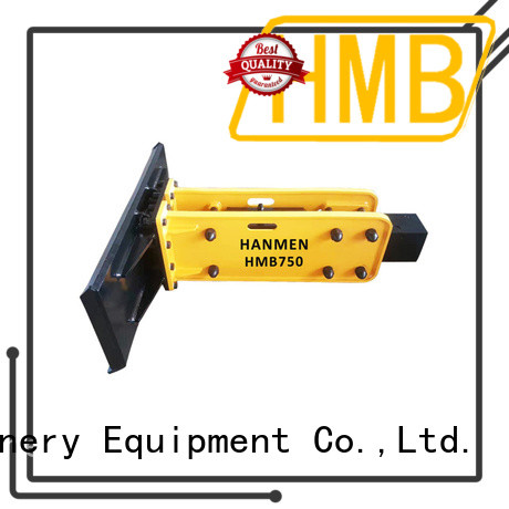 HMB hydraulic concrete breaker for excavator in China for secondary crushing.