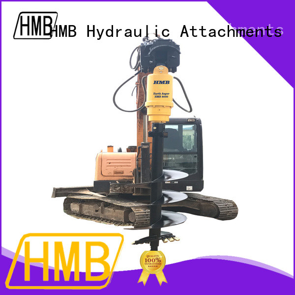 HMB hydraulic earth auger for sale supplier for excavator