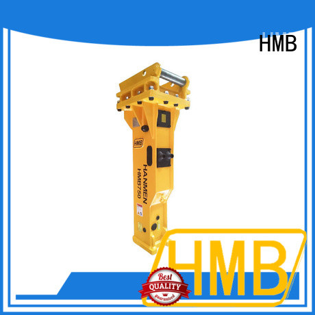 HMB Low noise level hydraulic hammer sales Oem for foundation excavation