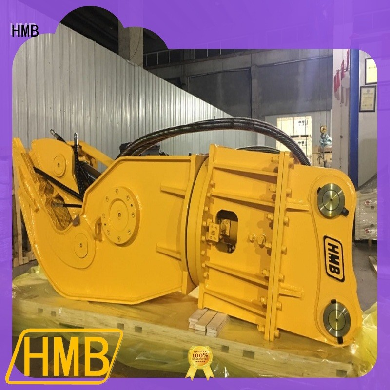 HMB easy to maintain hydraulic pulverizer excavator manufacturers for excavator or skid steer loader