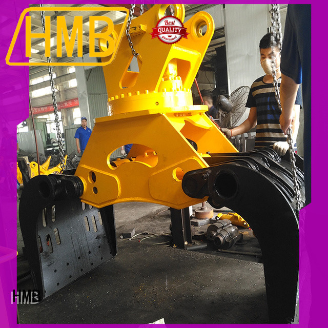 HMB high wear resistance excavator grapple wholesale for handling rocky beaches of boulder